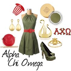Alpha Chi Omega IM IN LOVE! fashion mixed with AXO perfection