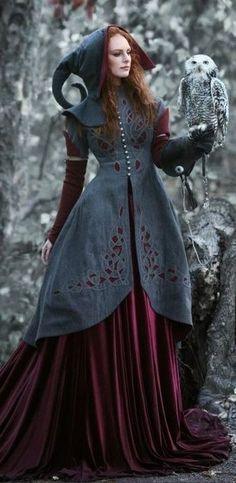 Moda Medieval, Medieval Dress, Medieval Fantasy, Medieval Witch, Mode Steampunk, Gothic Steampunk, Steampunk Clothing, Victorian Gothic, Steampunk Fashion