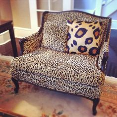 Cheetah print settee with a larger scale leopard print pillow Baby Furniture Sets, Shabby Chic Furniture, Cheap Furniture, Furniture Direct, Furniture Buyers, Furniture Cleaning, Furniture Assembly, Furniture Removal, Furniture Online