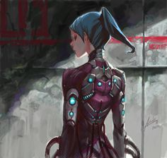 Cybernetic suit by =asuka111 on deviantART