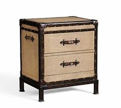 Redford Trunk Bedside Table #potterybarn