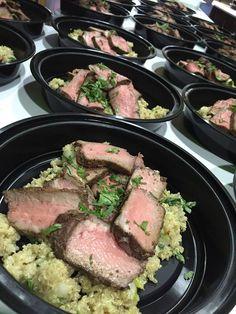 Cumin/Tamari/Cilantro Marinated NY Strip w/ Organic Quinoa & Bok Choy Pilaf #healthyfoods #healthy #freshfitfoods