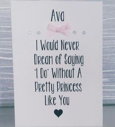 Personalised Will You Be My Flower Girl Card