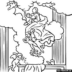 583 best Famous painting coloring pages images on