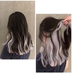 Two Color Hair, Hidden Hair Color, Hair Color Streaks, Hair Dye Colors, Ombre Hair, Balayage Hair, Dyed Hair Underneath, Hair Inspo, Hair Inspiration