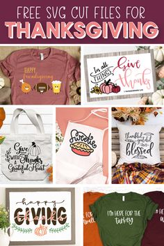 Free Thanksgiving Cut Files! Use these SVG designs with your Silhouette or Cricut to get crafting for your Thanksgiving celebration!