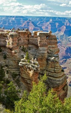 South Rim. Grand Canyon, Arizona--awesome hiking from South to North.  Leave your car at the North, take the shuttle to South then start hiking. Incredible! Oh, and make sure you get permits to hike.