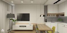 MIESZKANIE SASKA KĘPA - Mała otwarta kuchnia w kształcie litery l w aneksie, styl nowoczesny - zdjęcie od 3deko