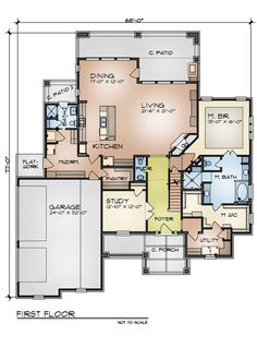 Great layout. Good master bath, closet, and laundry. Good mudroom and pantry. Needs a downstairs bedroom.