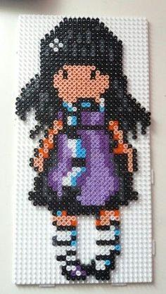 Resultado de imagen para hama beads gorjuss patrones llaveros