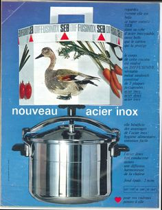 Nouvelle cocotte Seb acier inox - Jours de France, 20 août 1966