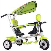 Buggiest gêmeos criança dupla moto triciclo assentos duplos bebê triciclo Buggiest carrinho de bebê(China (Mainland))