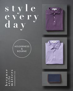 I found myself another night in front of my laptop lost in my restless research to find a new golf fashion brand which offers in their portfolio of products style, function and quality combined in a tailored fit polo shirt. But this time I was really successful and I would like to introduce you to Holderness & Bourne, a relatively fresh Golf apparel brand based in NYC and founded by Alex Holderness and John Bourne.