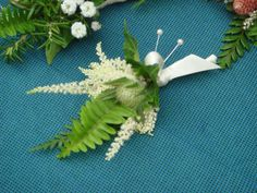 I like this Astilbe stuff with ferns. Both for bout.. And bouquet.  white clover, fern & astilbe.