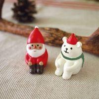 데꼴 크리스마스 앉아있는 마스코트 (2종) ※ 예쁜 Decole 피규어, 장식인형, 미니어쳐, 인테리어 디자인소품, 집안, 거실꾸미기