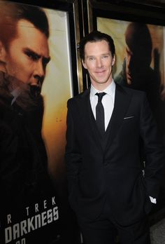 """Benedict Cumberbatch at the première of Star Trek, Leceister Square, London, May 2 2013, more on my board, """"Sherbatched or Cumberlocked?"""" here : http://pinterest.com/aggiedem/sherbatched-or-cumberlocked/"""