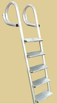 4-STEP & 5-STEP LADDER • Wahoo Docks standard dock ladder has oversized rungs for sturdy footing to provide a safe, secure and comfortable access point for exiting or entering the water. And no other ladder available is as durable nor is as finished looking to complement any quality dock.