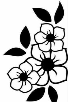Stencil Patterns, Stencil Designs, Embroidery Patterns, Rose Stencil, Stencil Art, Flower Stencils, Deco Cuir, Borders For Paper, Flower Doodles