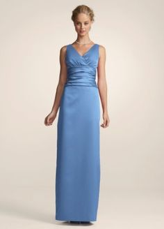 product sleeveless satin neck dress with slim skirt