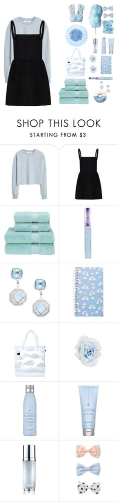 """~Blue Cotton Candy"" by xkimora ❤ liked on Polyvore featuring MANGO, Christy, Lime Crime, Judith Jack, Forever 21, Lazy Oaf, Collectif, Drybar and La Prairie"
