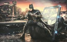 Download wallpapers Batman, 2017 movie, art, superhero, Justice League