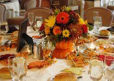 Vase Kürbisform Tischdeko Herbst Ideen Hochzeit