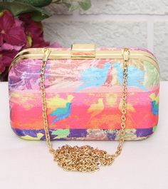 Pink Bird Classic Clutch #indianroots #ethnicwear #accessories #bags #clutch Indian Accessories, Bridal Clutch, Pink Bird, Party Bags, Clutch Wallet, Clutches, Bucket Bag, Wallets, Arm