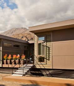 Affordable, green prefab homes in Palm Springs.