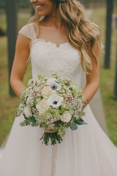 Real Wedding Series | Addie and Kerry | A Rainy Day Wedding | Becky's Brides | J.Woodbery Photography | Hothouse Design Studio | Douglas Manor | Birmingham Wedding Planner | Bridal Bouquet