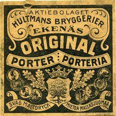 #Olutetiketti #Beer Label #Porter #Aktiebolag Ekenäs #Tammisaari Beer Label, The Originals
