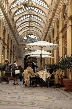 Galerie Vivienne, covered shopping mall opened in Paris in 1820...a real gem - its still a real gem