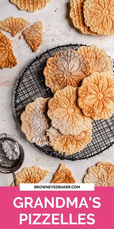 Pizzelle Recipe Anise, Pizzelle Cookies, Waffle Cookies, No Bake Cookies, Cookie Desserts, Fun Desserts, Cookie Recipes, Italian Desserts, Italian Recipes