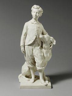 The Prince Impérial with His Dog Néro, 1912  Jean-Baptiste Carpeaux (French, 1827–1875); Manufacturer: Sèvres; Modeler: Henri Robert (French, 1889–1933)  Hard-paste biscuit porcelain