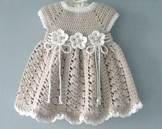 Best 11 Crochet Baby Dress Crochet Baptism Baby Girl Dress Christening Gown Baby Shower Baby Girl Outfit Knitted Baby Dress Newborn Baby Gift Thank you very much for visiting my store ! My original design and Handmade with love for Your Baby ! Crochet Baby Dress Pattern, Knit Baby Dress, Baby Girl Crochet, Crochet Baby Clothes, Knitted Baby, Crochet Baby Dresses, Crochet Bebe, Crochet Summer, Hand Crochet