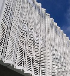 Metal Facade, Metal Siding, Metal Buildings, Architecture Sketchbook, Facade Architecture, Amazing Architecture, Building Exterior, Building Design, Grill Gate Design