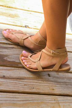 Midnight Swim Natural Sands Strappy Sandals