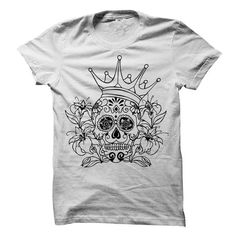 Sugar Skull Awesome T Shirts, Hoodies. Check price ==► https://www.sunfrog.com/Holidays/Sugar-Skull--Awesome-Tee.html?41382