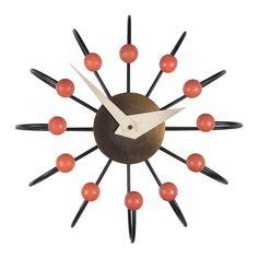 Atomic Ball Clock by Frederick Weinberg - 1950's retro wall clock