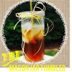 Mason Jar Tumbler by Theloadedgluegun on Etsy