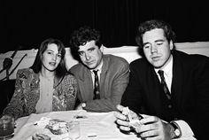 Marla Hanson, Jay McInerney, and Bret Easton Ellis at a New York party for a movie premiere in 1990.