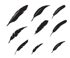 "Free feather SVG. Click the image to download... ""Cliquez pour télécharger"" #Silhouette #CutFile"