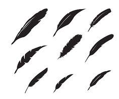 "Free feather SVG. Click the image to download... ""Cliquez pour télécharger"" #Silhouette #CutFile"