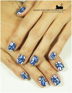 Nail Art: Don't Be Blue | Simply Rins | Bloglovin'