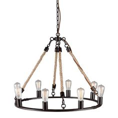 Loving this rustic chandelier!