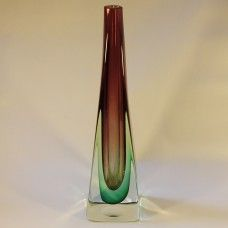 #Murano tall #sommerso #cased three-colour vase, 60s, 70s, £35 incl P&P www.coco-collectables.co.uk