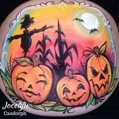 #Halloween baby Bump Inspiration by Jocelyn Casdorph. Its always a good time to decorate your belly and celebrate the blessing of a baby!