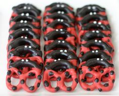 Ladybug pretzels.  If only my 14-year-old was still 3-ish.