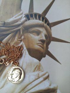 USA Necklace   United States Patriotic by TheVintageCinderella