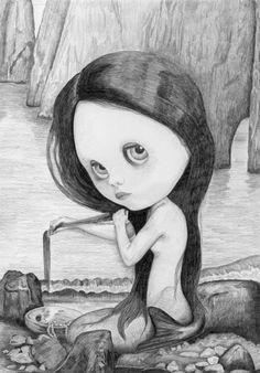 Blythe Mermaid - by Thomas DePorter (Friend2Blythe)
