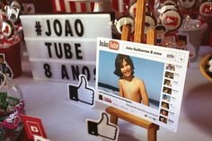 YouTube signage from a YouTube Themed Birthday Party on Kara's Party Ideas | KarasPartyIdeas.com (10)